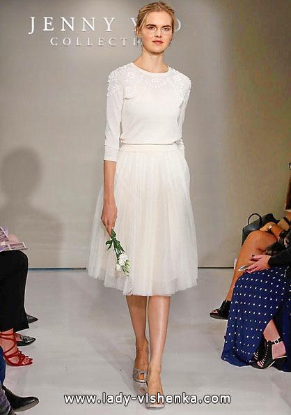 Короткие свадебные платья с рукавами 2016 - Jenny Yoo