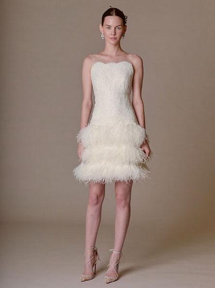 Свадебное платье с короткой юбкой 2016 - Marchesa