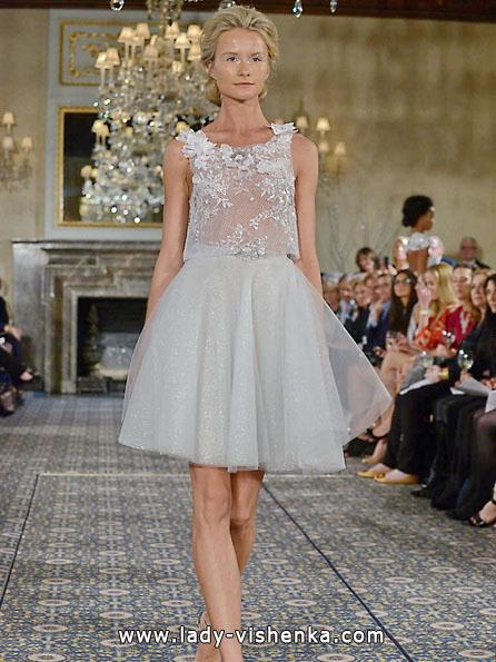 Короткое прозрачное свадебное платье 2016 - Mira Zwillinger