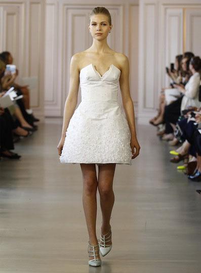 Короткие свадебные платья 2016 - Oscar de la Renta