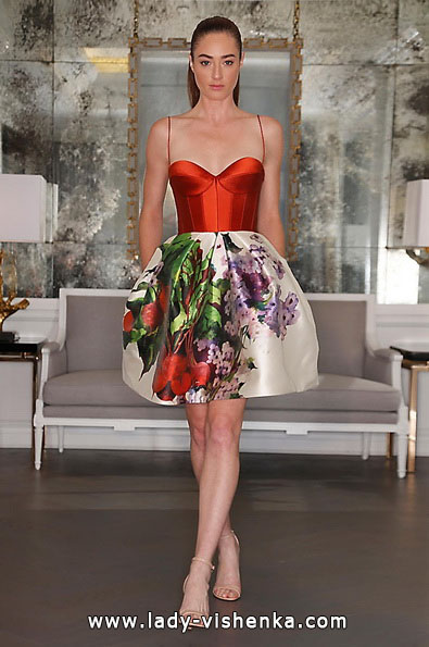 Красное короткое свадебное платье 2016 - Romona Keveza