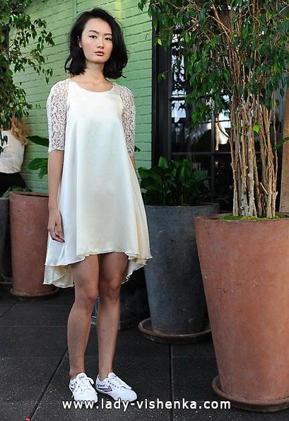 Короткие свадебные платья с кружевными рукавами 2016 - Sarah Seven