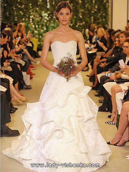 Простые свадебные платья фото - Carolina Herrera