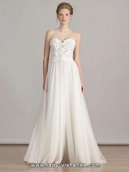 Простое белое свадебное платье - Liancarlo