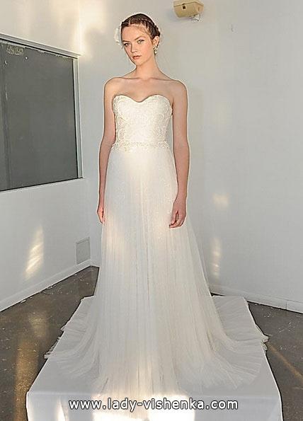 Простые свадебные платья фото - Marchesa