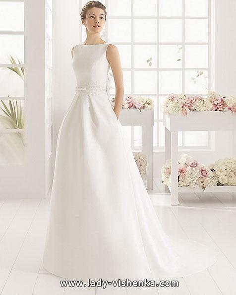 Простое белое свадебное платье - Aire Barcelona
