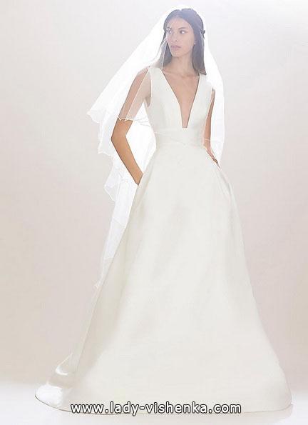 Простое свадебное платье 2016 - Carolina Herrera
