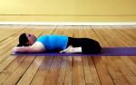 Позы йоги - Спящий герой