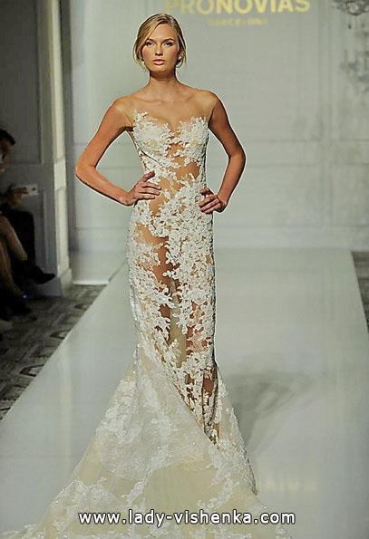 Прозрачное свадебное платье - Pronovias
