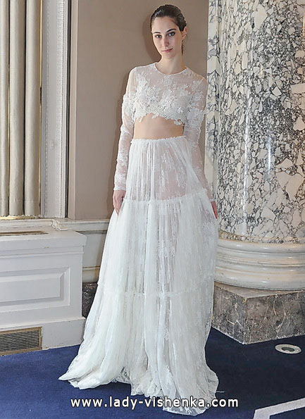 Прозрачные свадебные платья фото - Christos Costarellos