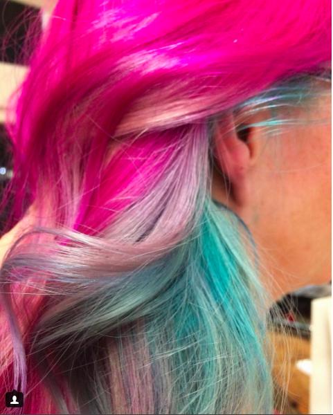 Кислотные волосы