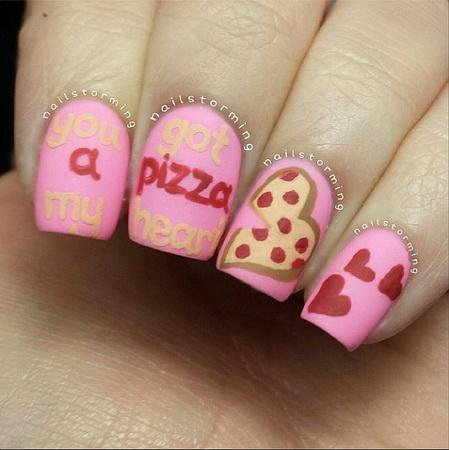 Маникюр на День Святого Валентина фото