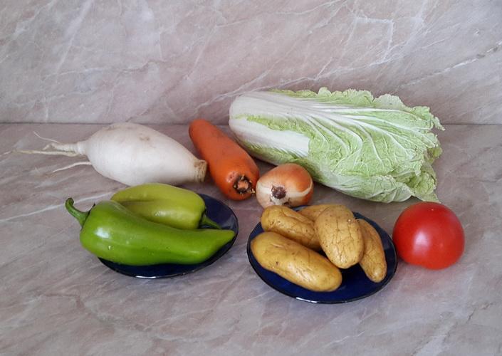Ингредиенты к супу с капустой