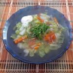 Овощной суп с пекинской капустой - мини