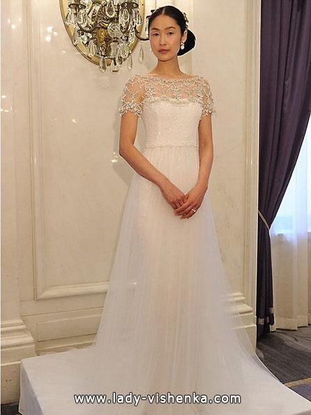 Свадебные платья с закрытыми плечами 2016 - Marchesa