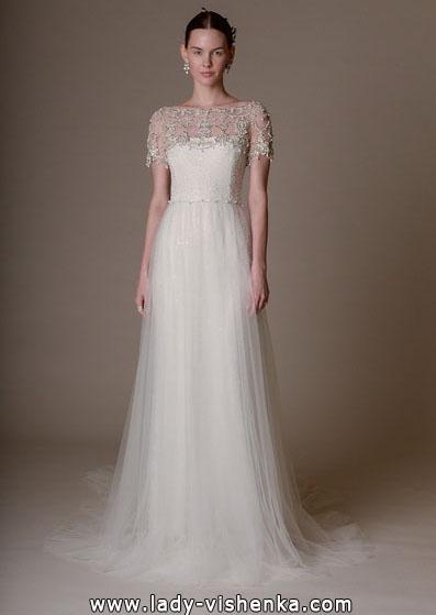 Простое свадебное платье с закрытыми плечами 2016 - Marchesa