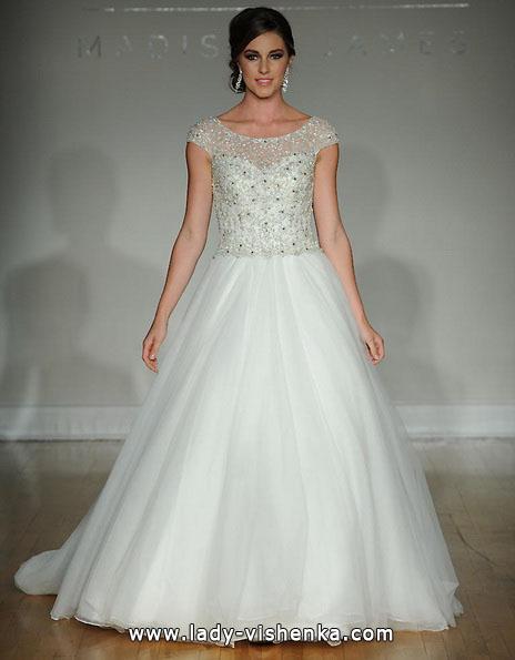 Пышное свадебные платья с закрытыми плечами 2016 - Allure