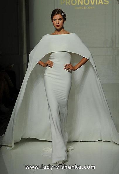 Свадебные платья с закрытыми плечами 2016 - Pronovias