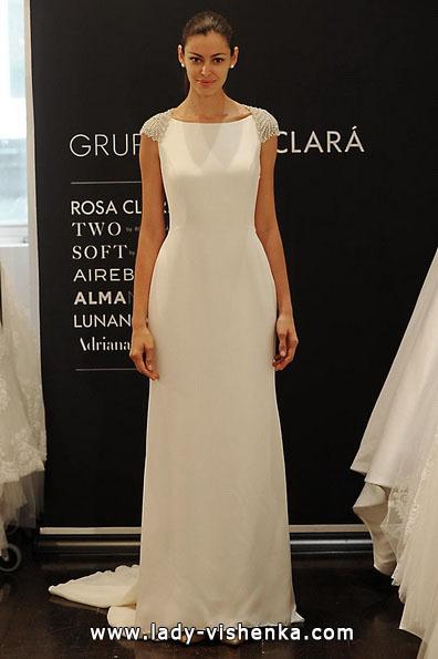 Свадебные платья с закрытыми плечами 2016 - Rosa Clará