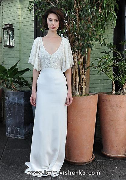 Свадебные платья с закрытыми плечами фото - Sarah Seven