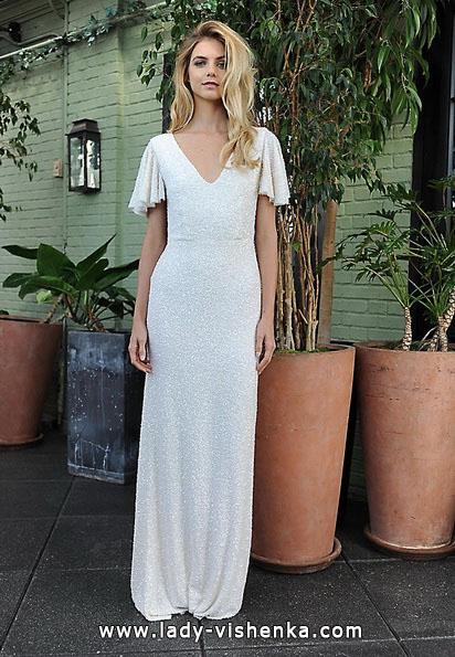 Прямое свадебное платье с закрытыми плечами 2016 - Sarah Seven