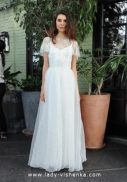 Свадебное платье Ретро с закрытыми плечами 2016 - Sarah Seven
