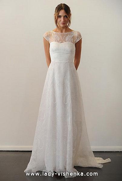 Свадебные платья с закрытыми плечами фото - Temperley