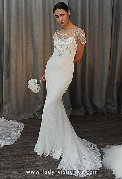 Свадебное платье рыбка со шлейфом - Badgley Mischka