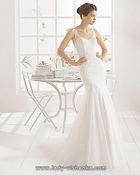 Свадебное платье русалочка со шлейфом - Aire Barcelona