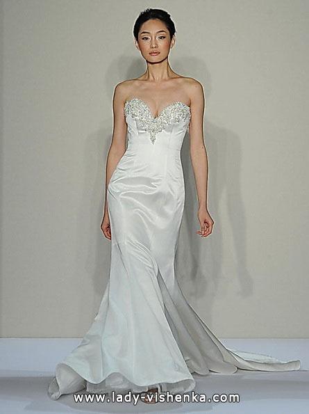 Свадебное платье рыбка со шлейфом - Dennis Basso