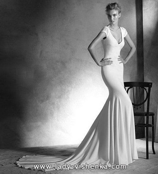 Свадебное платье русалочка со шлейфом - Pronovias