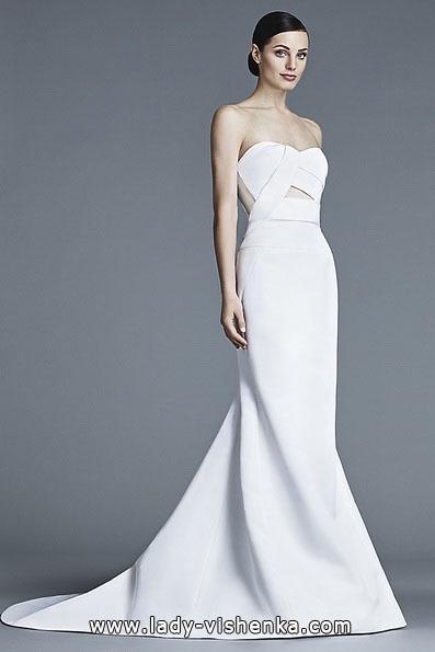 Свадебное платье рыбка со шлейфом - J Mendel