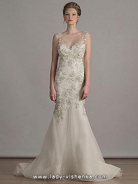 Свадебное платье рыбка со шлейфом - Liancarlo