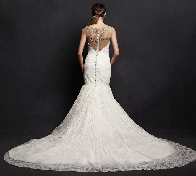 Спина свадебного платья рыбка со шлейфом - Isabelle Armstrong