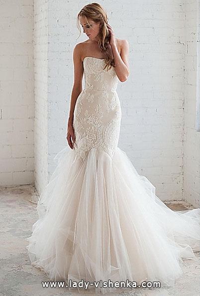 Свадебное платье рыбка со шлейфом - Tara LaTour