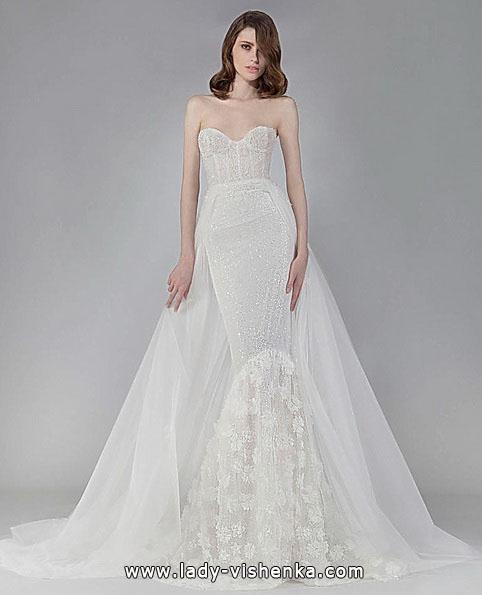 Свадебное платье рыбка со шлейфом 2016