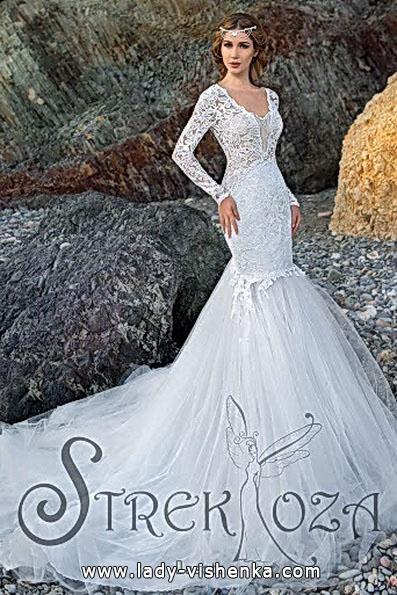 Свадебное платье русалочка со шлейфом - Strekoza