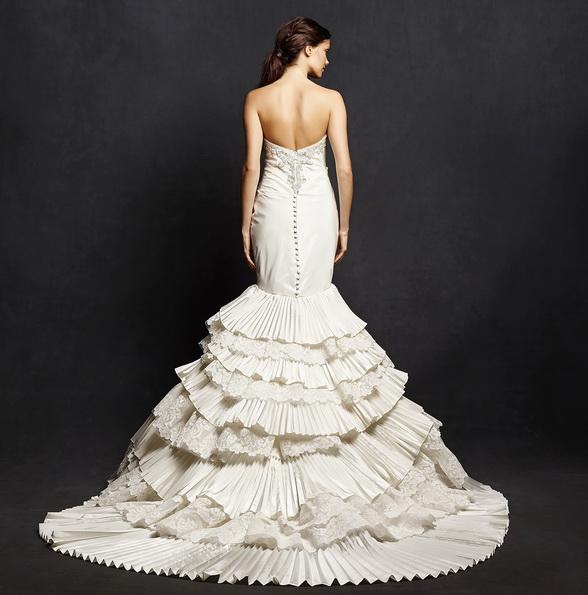 Красивое свадебное платье рыбка со шлейфом - Isabelle Armstrong