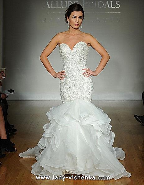 Свадебное платье рыбка со шлейфом - Allure
