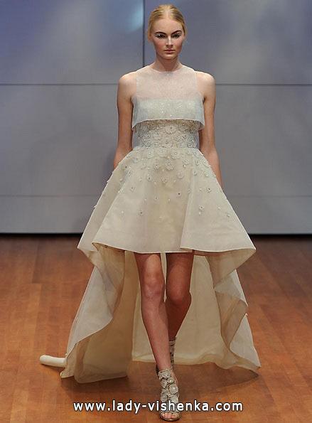 Свадебное платье короткое спереди 2016 - Rita Vinieris