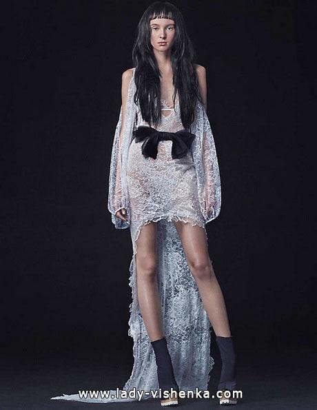 Свадебное платье короткое спереди фото - Vera Wang