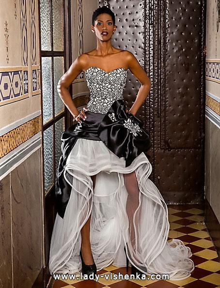 Свадебное платье короткое спереди - Jordi Dalmau