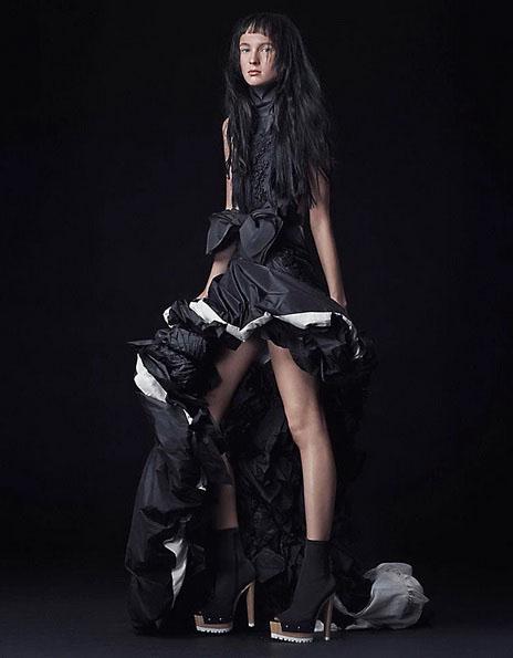 Свадебное платье короткое спереди - сзади длинное 2016 - Vera Wang