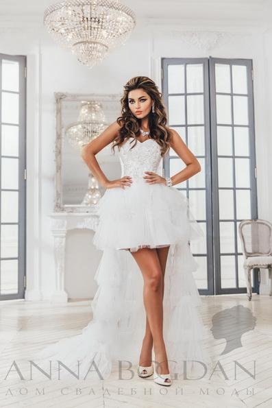 Свадебное платье короткое спереди 2016 - Anna Bogdan