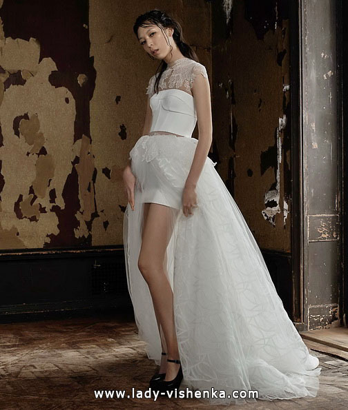 Свадебное платье короткое спереди - Vera Wang