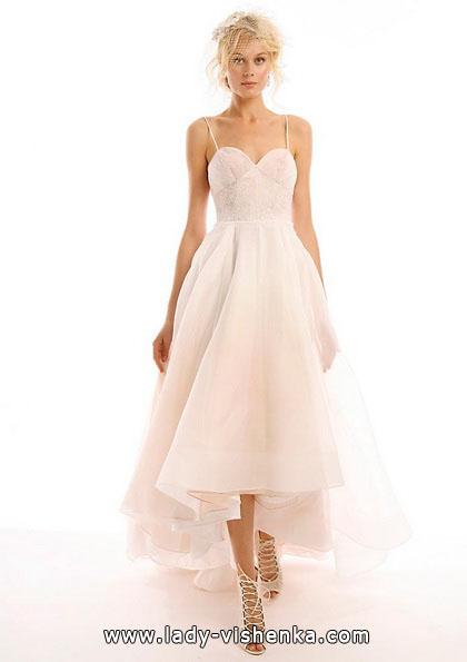 Свадебное платье короткое спереди 2016 - Eugenia Couture