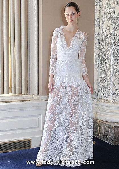 Свадебные платья с кружевными рукавами 2016 - Christos Costarellos