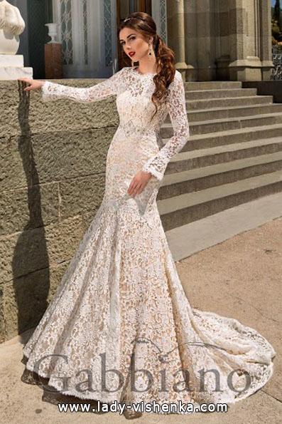 Кружевные свадебные платья с длинным рукавом - Gabbiano