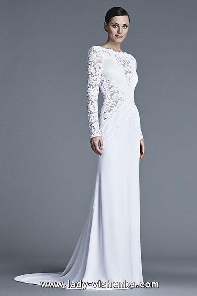Свадебные платья с кружевными рукавами - J Mendel