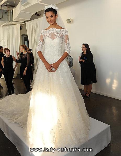 Свадебные платья с кружевными рукавами - Marchesa